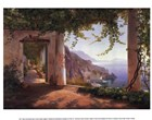 View to the Amalfi Coast by Carl Frederic Aagaard art print