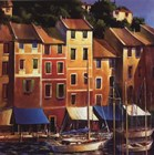 Portofino Waterfront by Michael O'toole art print